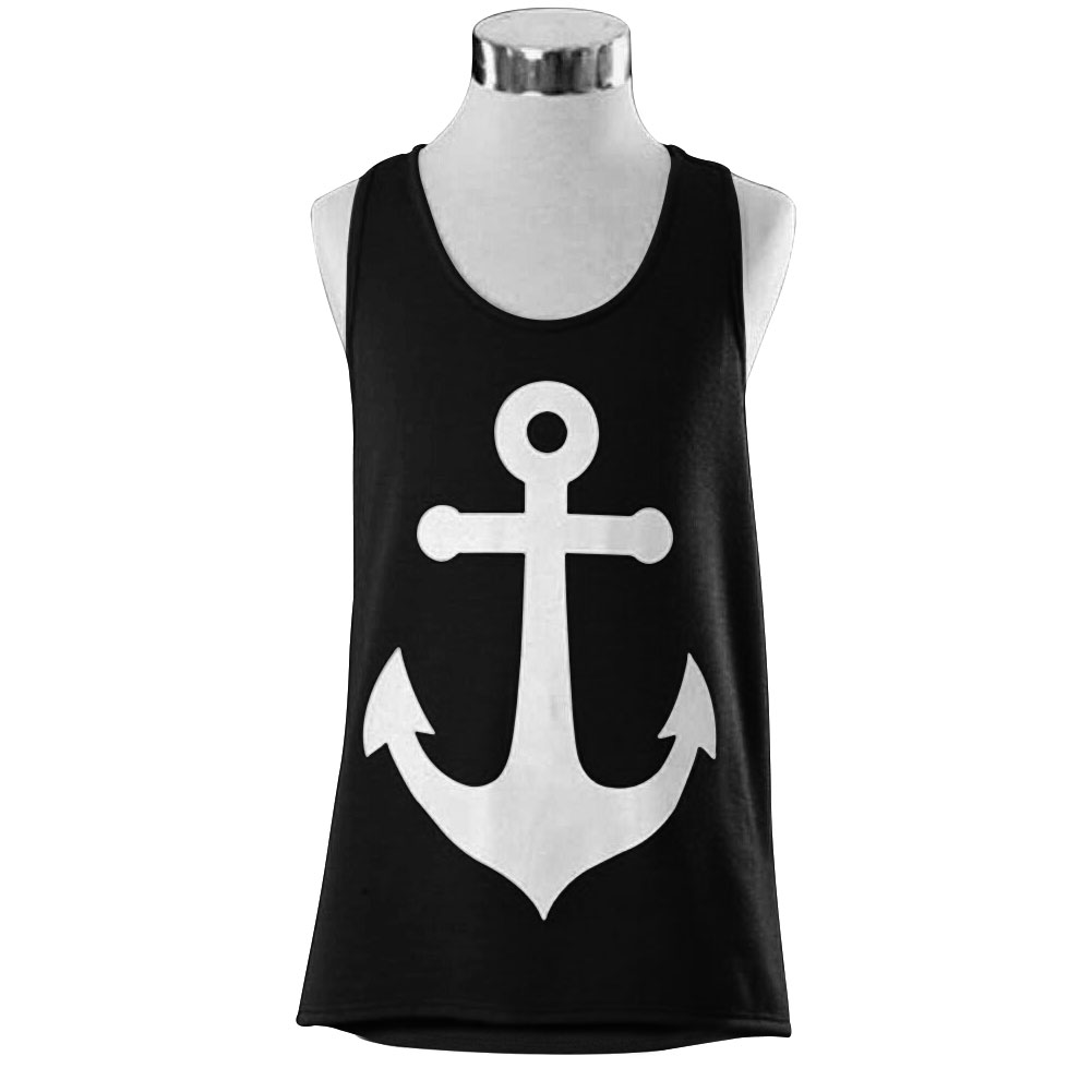 d607b6d4e3 2015 Anchor Vest Tank Tops Graphic Tee Women Back Bow Sleeveless ...
