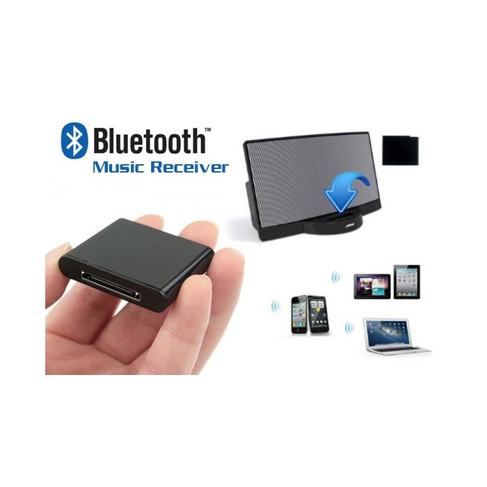 For 30 Pin Bose Sounddock 10 & Wave IPhone IPod Bluetooth Music Receiver Adapter