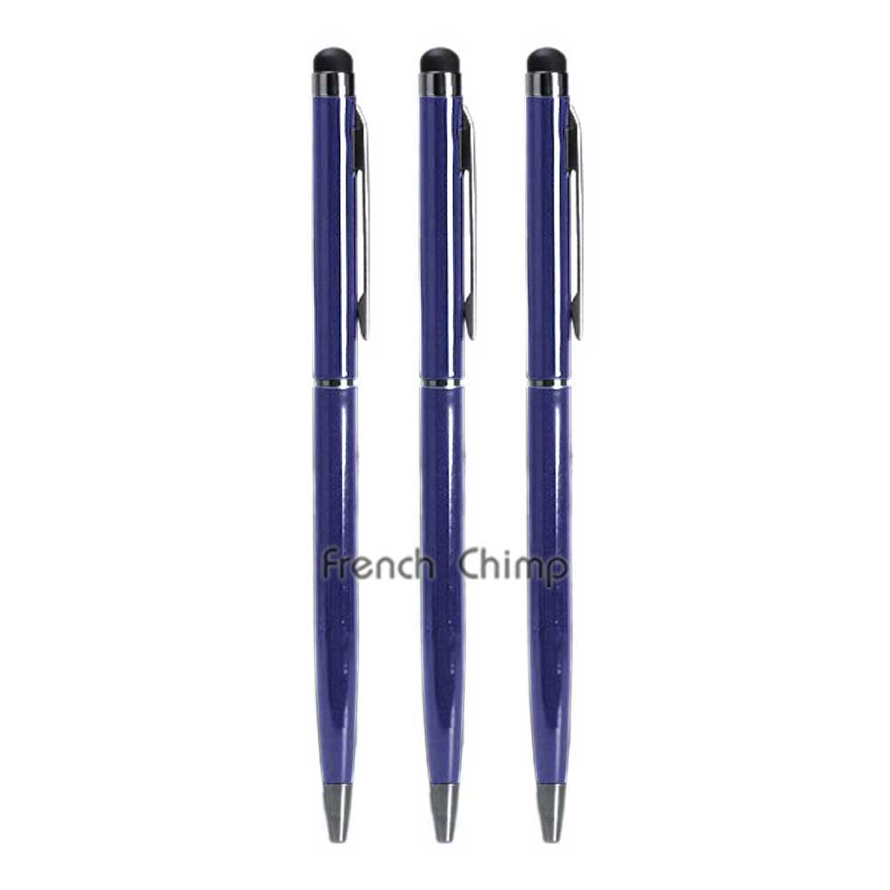 3 x new capacitive touch screen stylus with ball point pen
