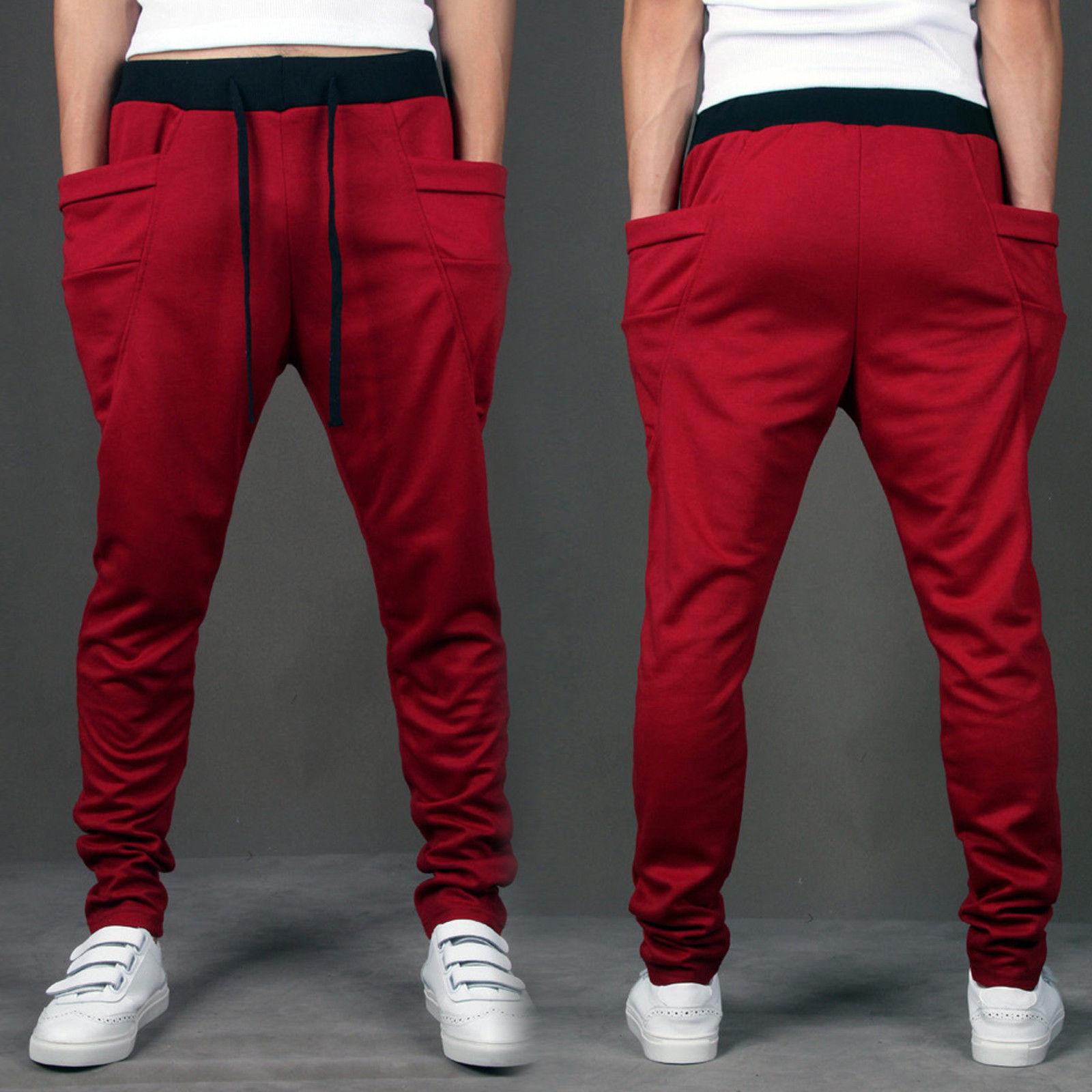 Baggy Jogger Casual Trousers Shorts Men Sports Pants Harem ...