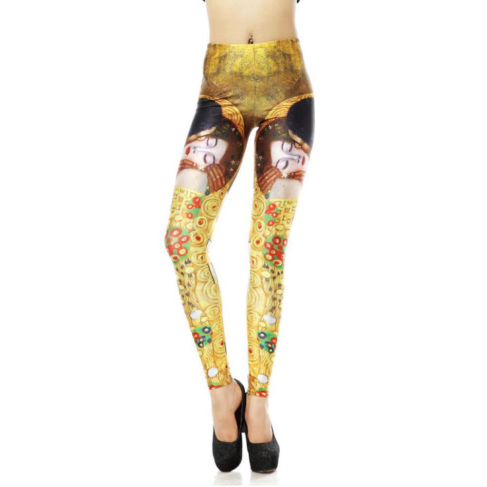 Hot Sexy Lady Pattern Print Women Stretch Leggings Tight ...