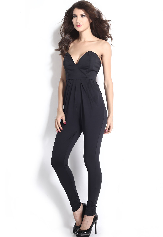 Sexy Women Bandage Bodycon Jumpsuit Fashion Long Playsuit ...