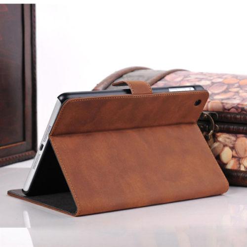 Ultra Slim Smart Cover Retro Leather Case Stand For Apple iPad Mini 1, 2, 3