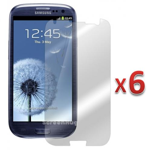 FrenchChimp Pack Of 6 Anti-Glare/Matte Screen protector Shield for Samsung Galaxy S3 S III i9300