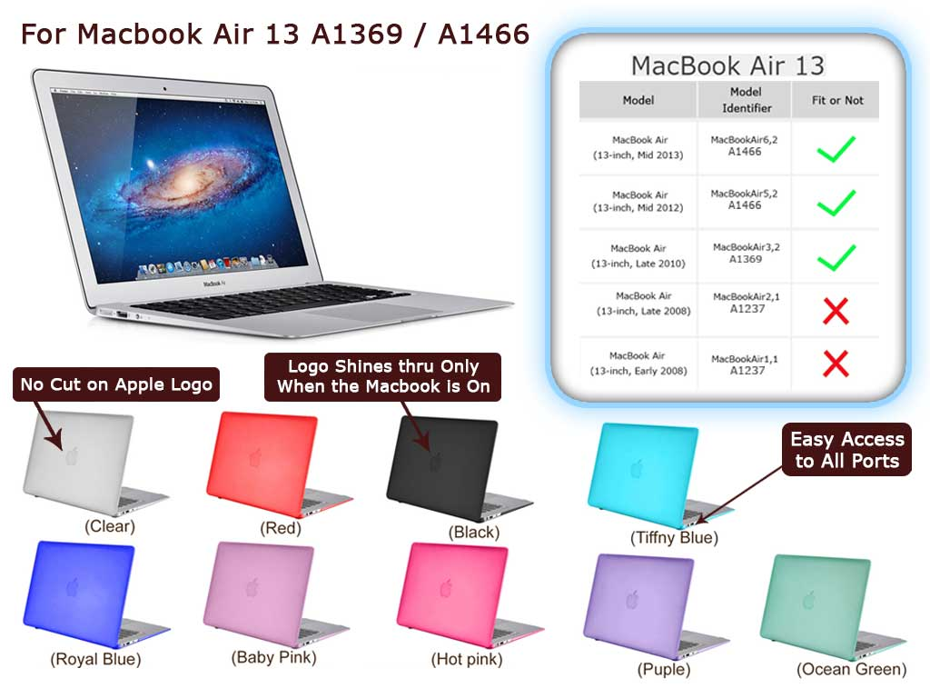 Rubberized Hard Snap ON Case Keyboard Cover FOR Macbook